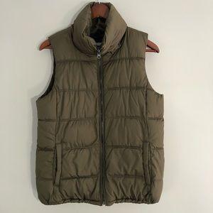 Old Navy Army Green Nylon Puffer Vest